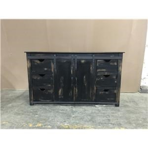 """70"""" Gliding Door TV Console in Rodeo"""
