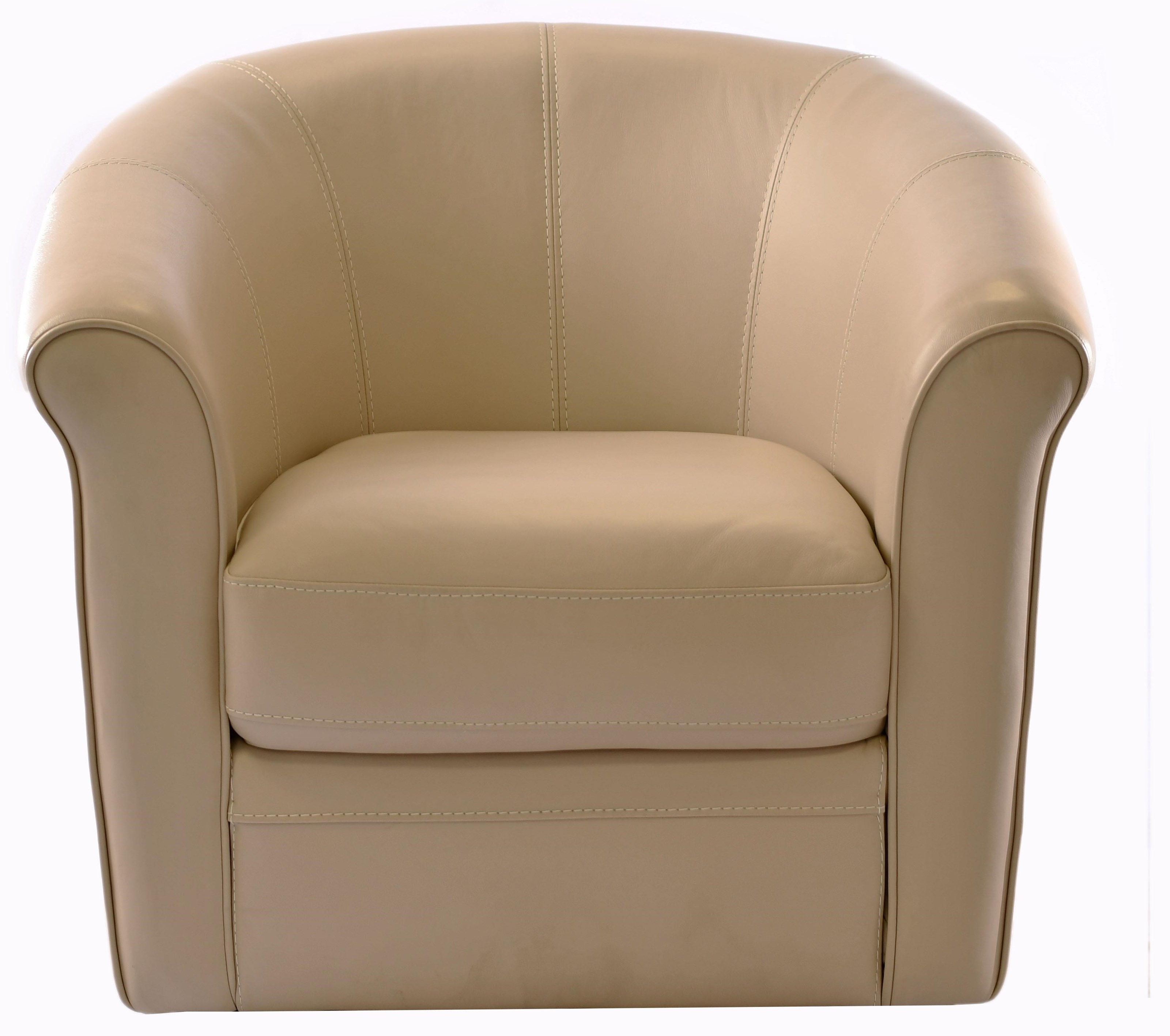 1100A Leather Swivel Chair Swivel Chair at Bennett's Furniture and Mattresses