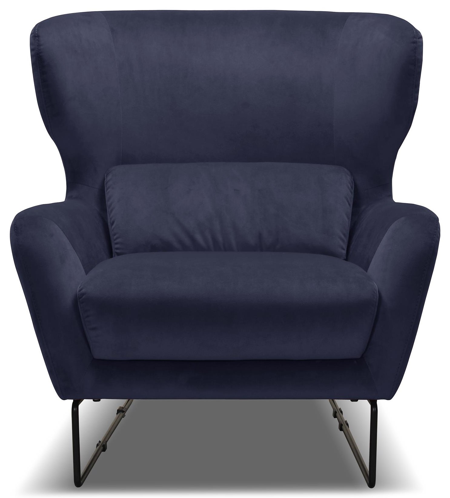 1140 Navy Blue Contemporary Velvet Chair by Violino at O'Dunk & O'Bright Furniture
