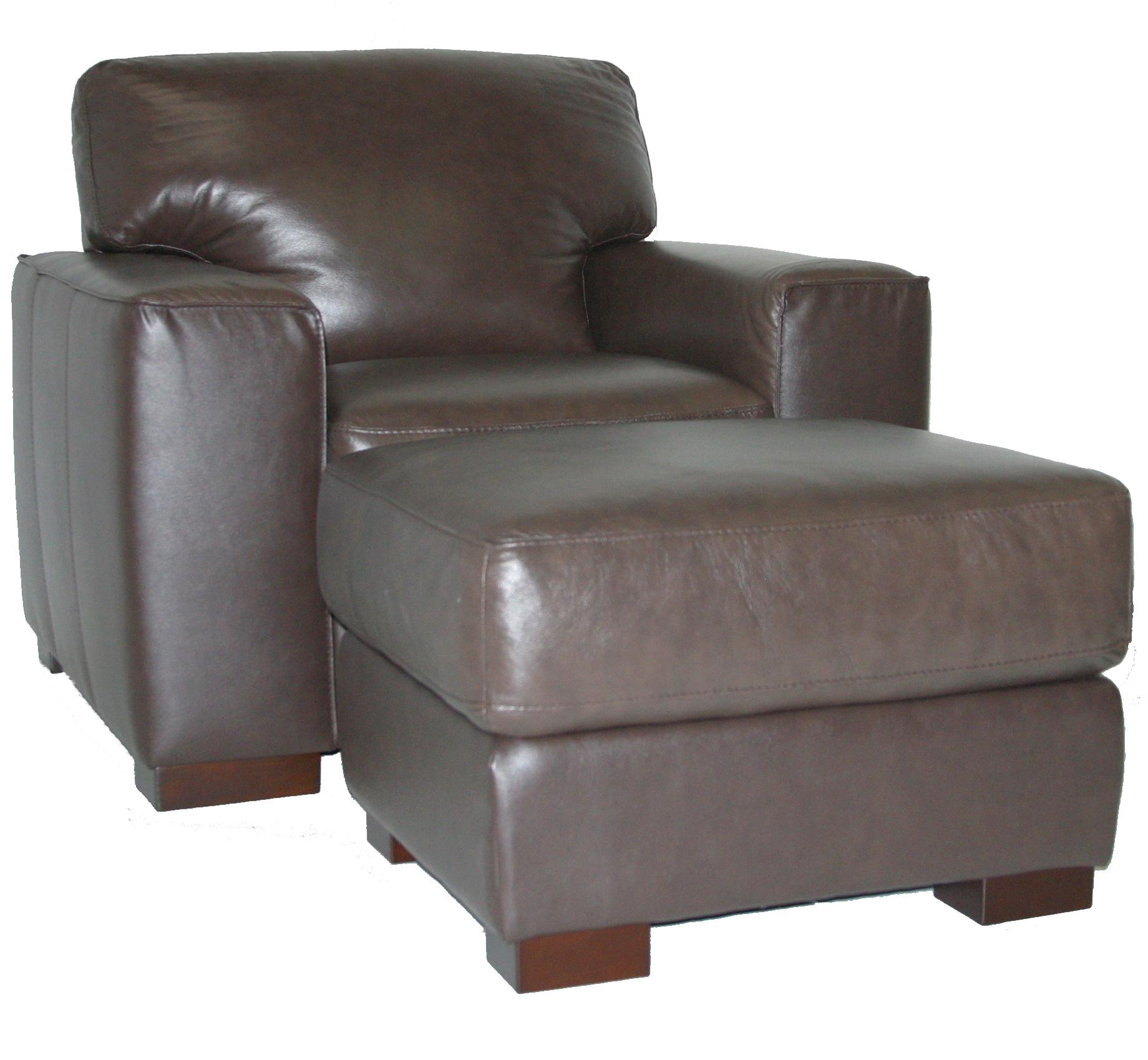 Upholstered Chair and Ottoman Set by Violino at Becker Furniture