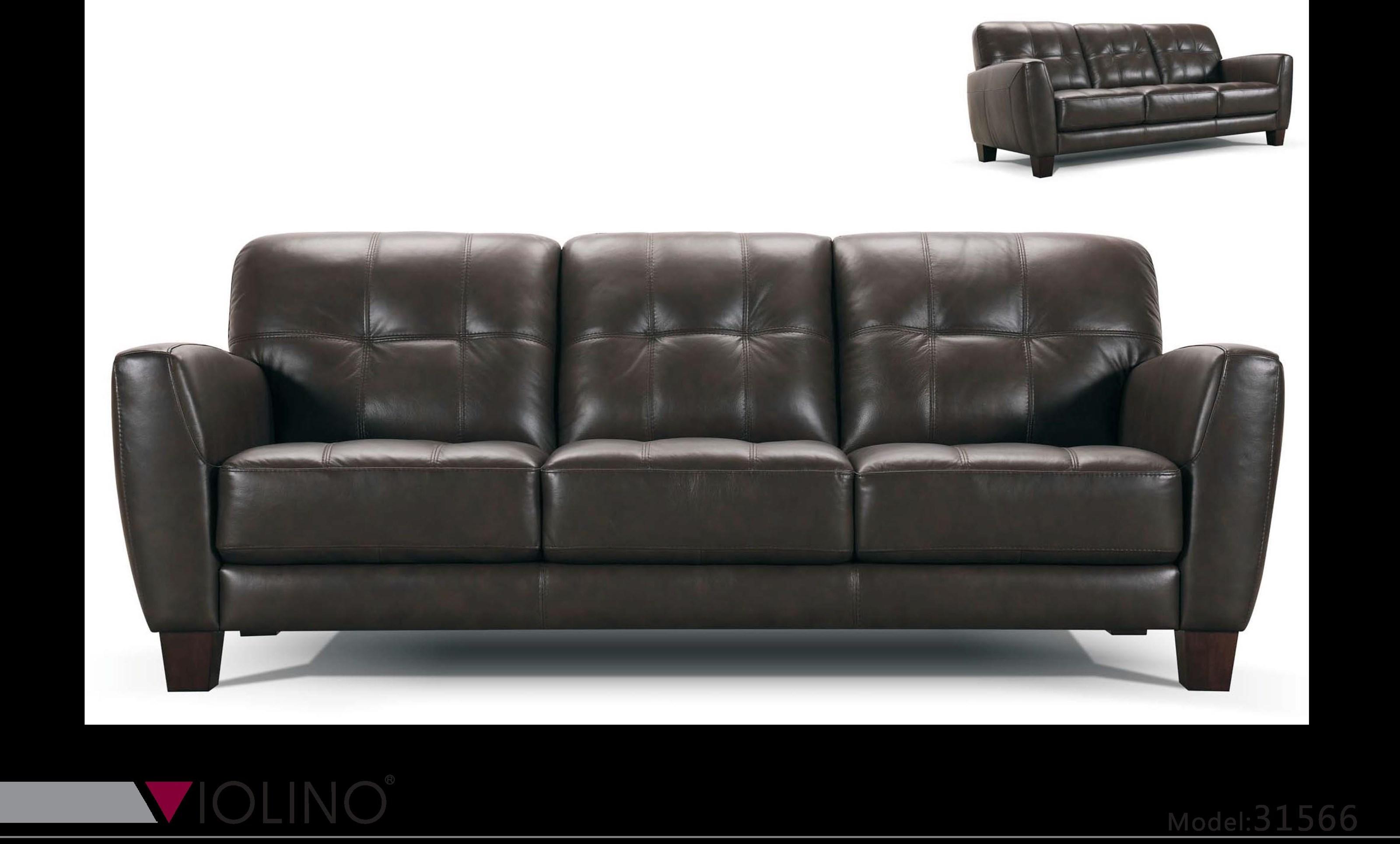 31566 Tufted Leather Sofa by Violino at O'Dunk & O'Bright Furniture