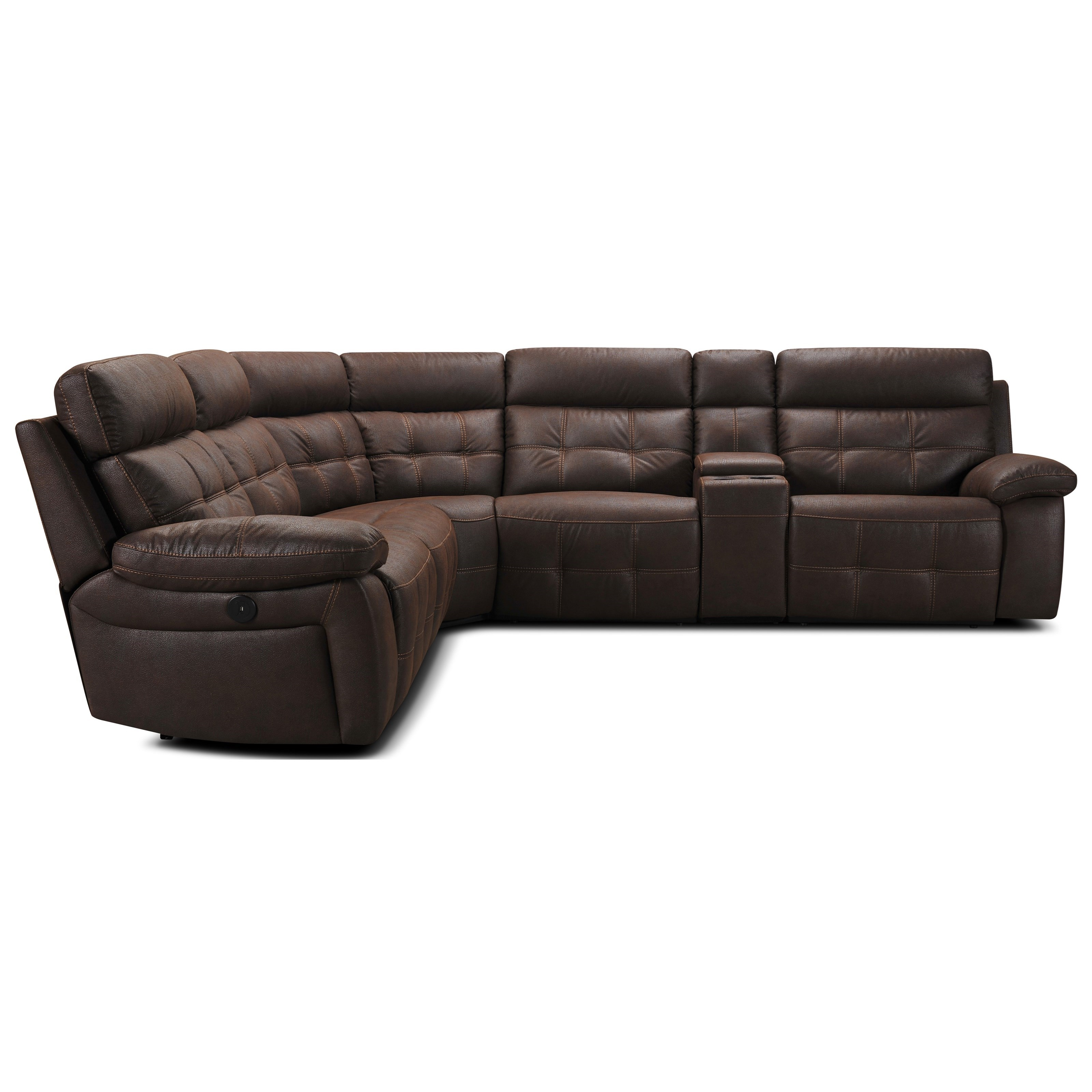 31736 6 Pc Reclining Sectional Sofa by Violino at Furniture Superstore - Rochester, MN