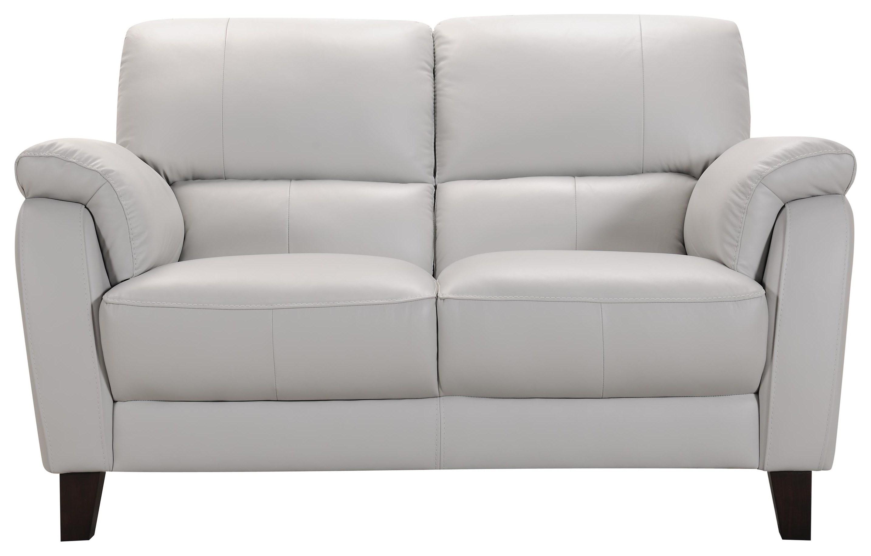 31933 Grey Leather Loveseat by Violino at Furniture Fair - North Carolina