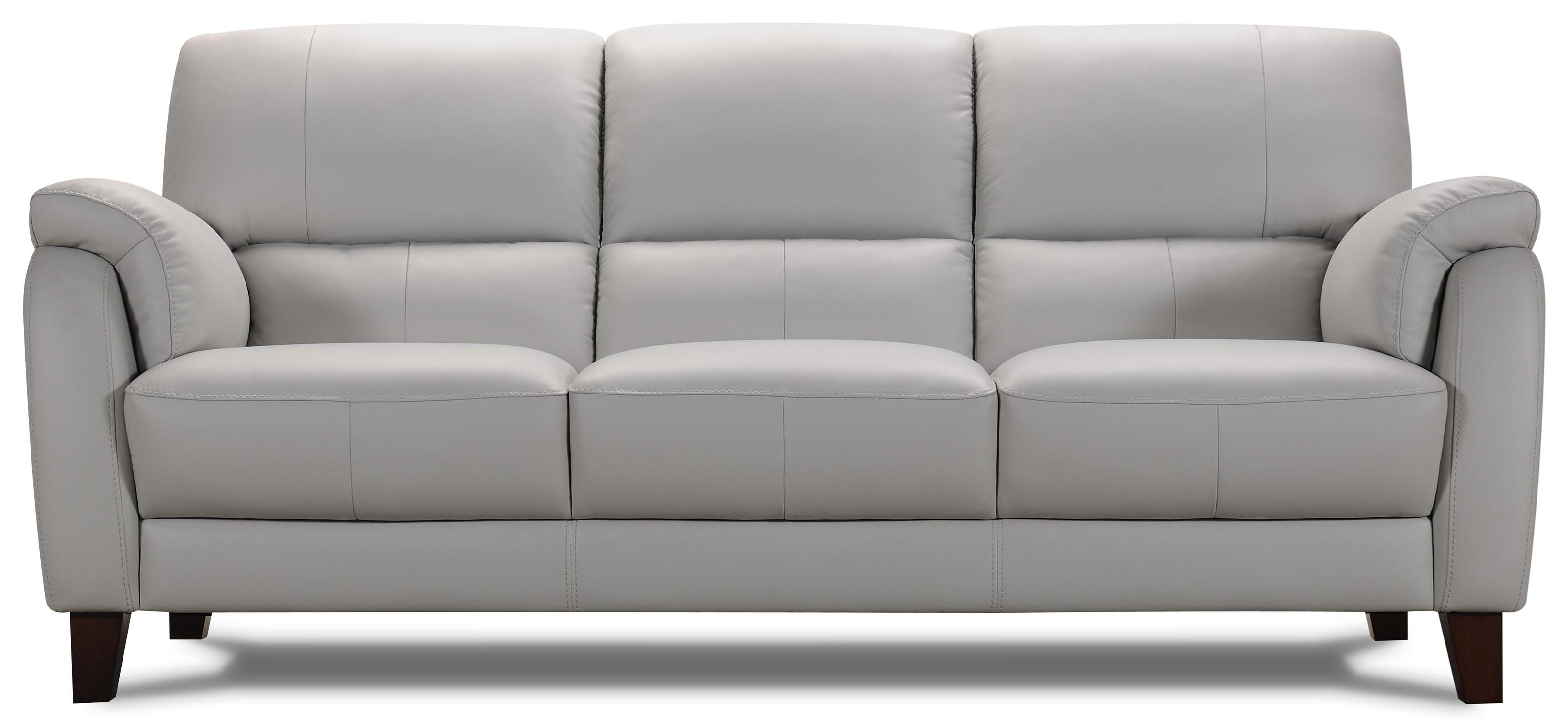 31933 Gray Leather Sofa by Violino at Furniture Fair - North Carolina