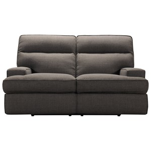 Contemporary Power Reclining Loveseat with Power Headrests and USB Charging Ports