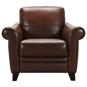 Transitional Leather Chair