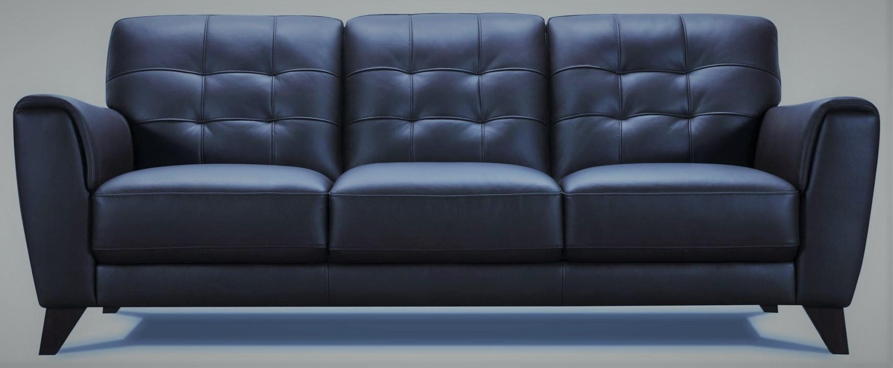 32294 Leather Sofa - Navy by Violino at Furniture Fair - North Carolina