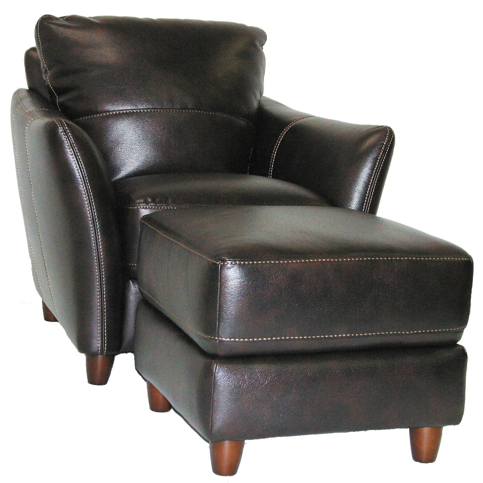 3356 Chair and Ottoman Set by Violino at Furniture Superstore - Rochester, MN