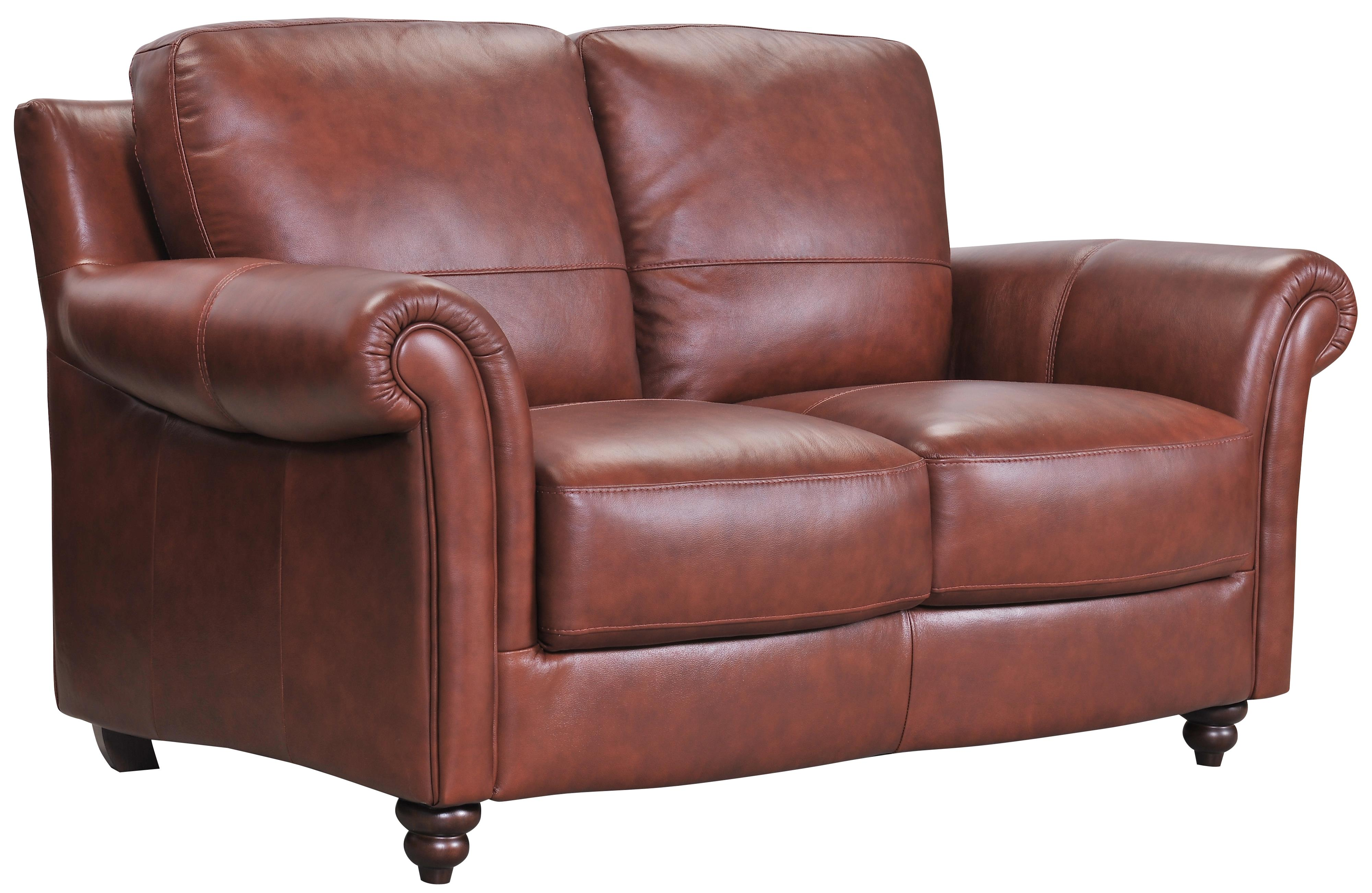 Grady Leather Love Seat by Violino at Furniture Superstore - Rochester, MN
