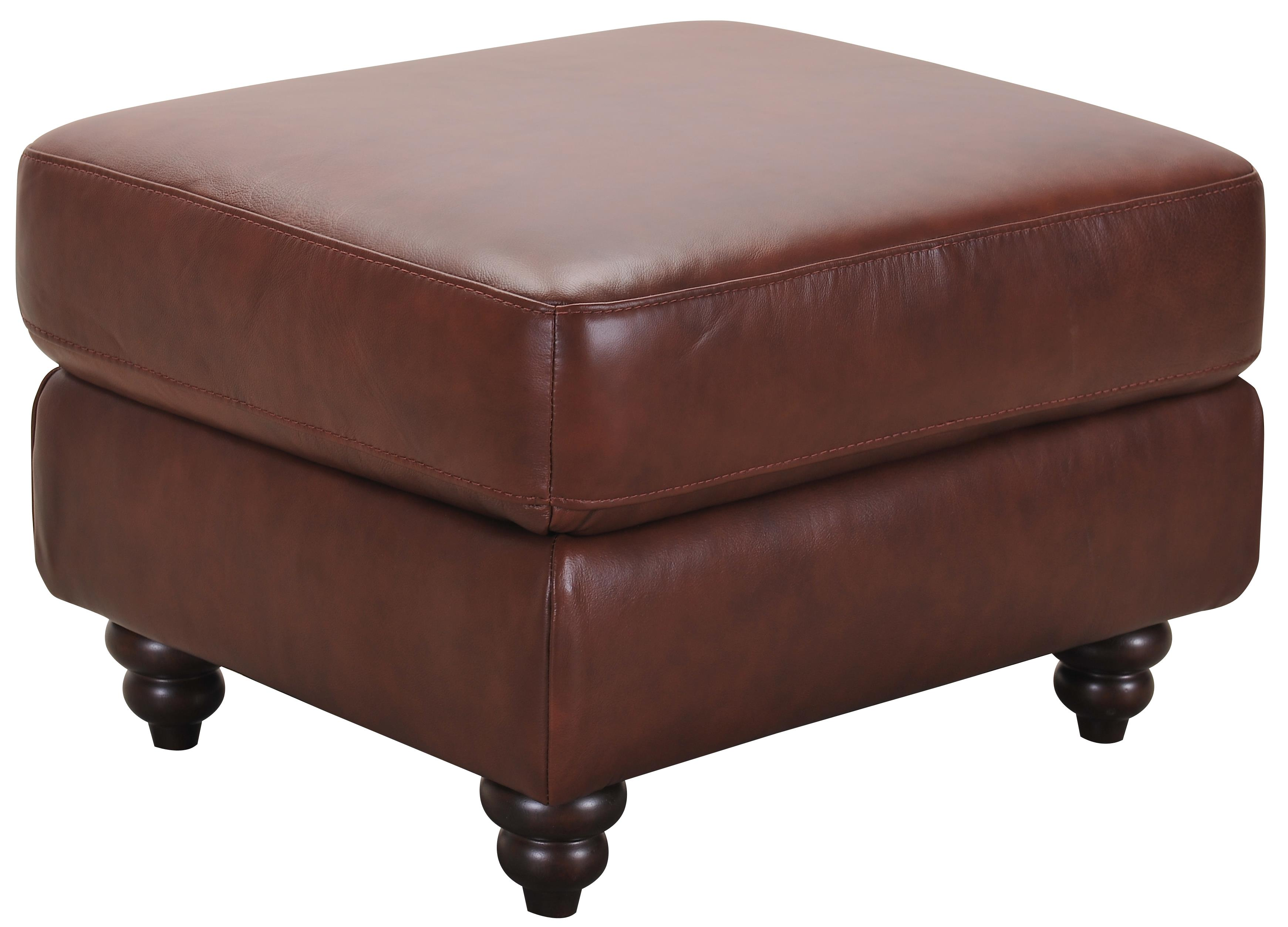 Grady Leather Ottoman  by Violino at Furniture Superstore - Rochester, MN