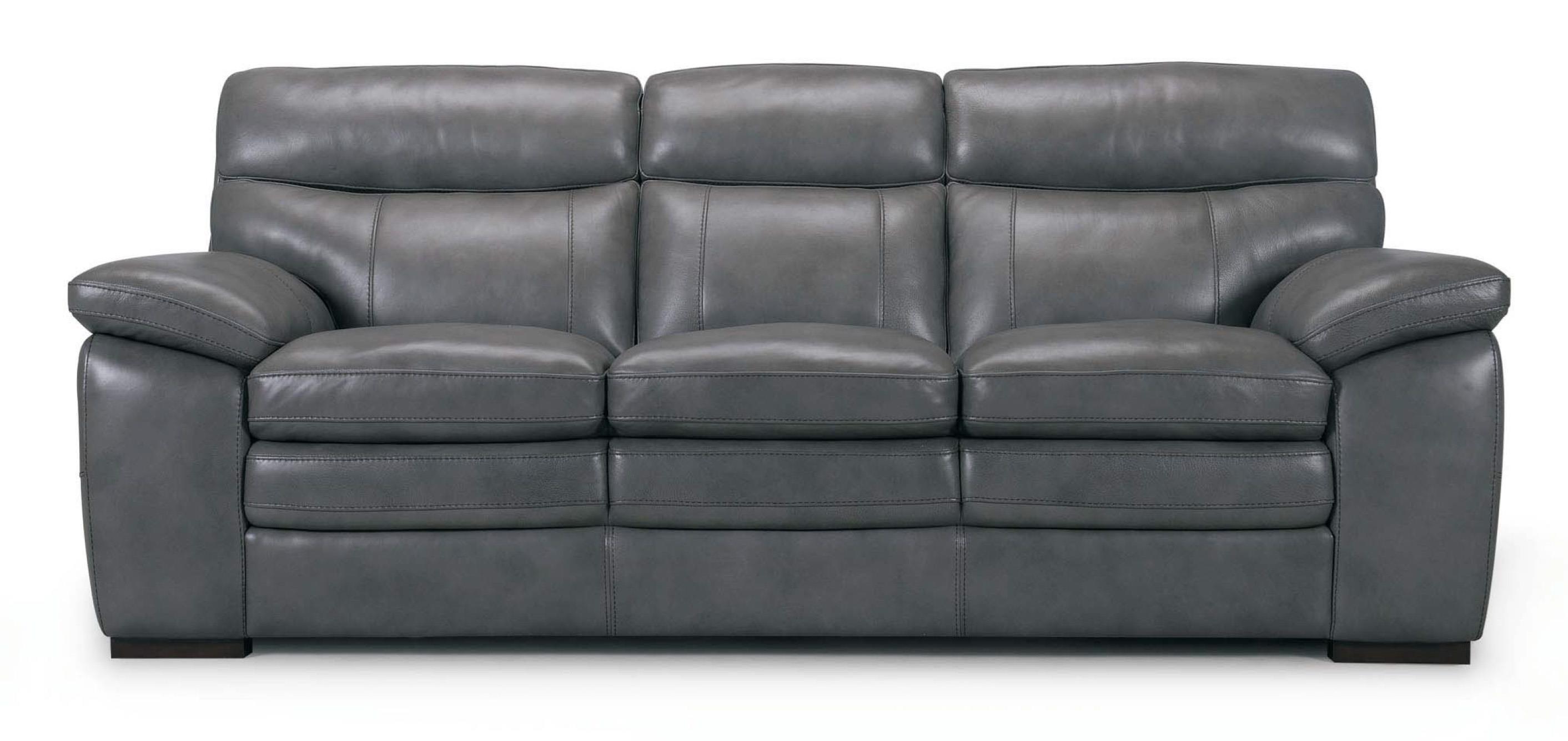 3658 Leather Sofa by Violino at O'Dunk & O'Bright Furniture