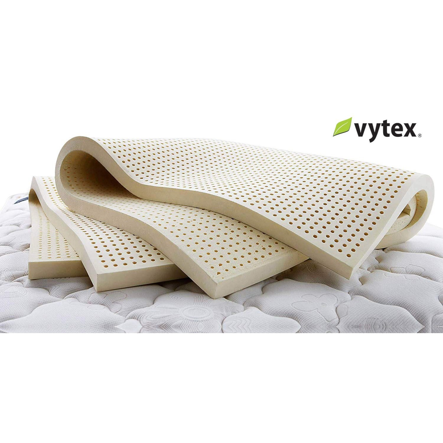 "Vytex Mattress Toppers - Firm Twin XL 3"" Firm Latex Mattress Topper by Vytex at Rotmans"