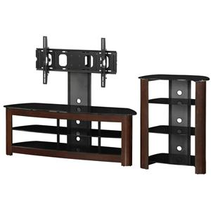 """Walker Edison TV Stands 60"""" TV Stand & Component Stand Combo"""