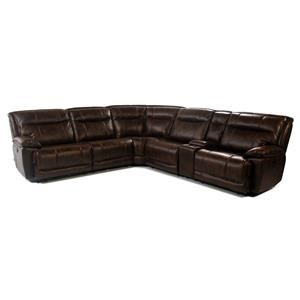6PC Power Reclining Sectional w/ Storage Console