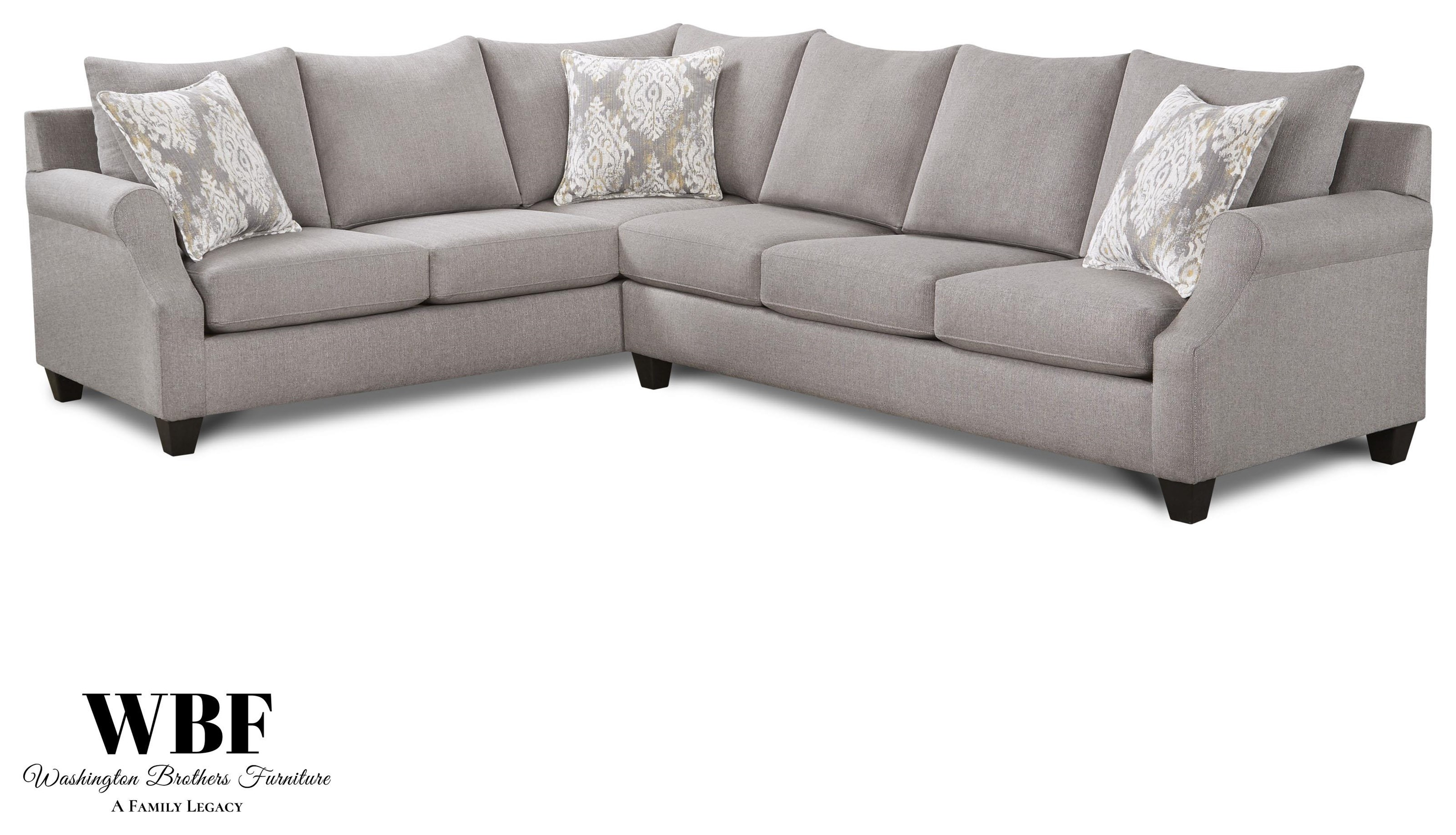 1197 Sectional Two Piece Grey Sectional by Washington Brothers Furniture at Furniture Fair - North Carolina
