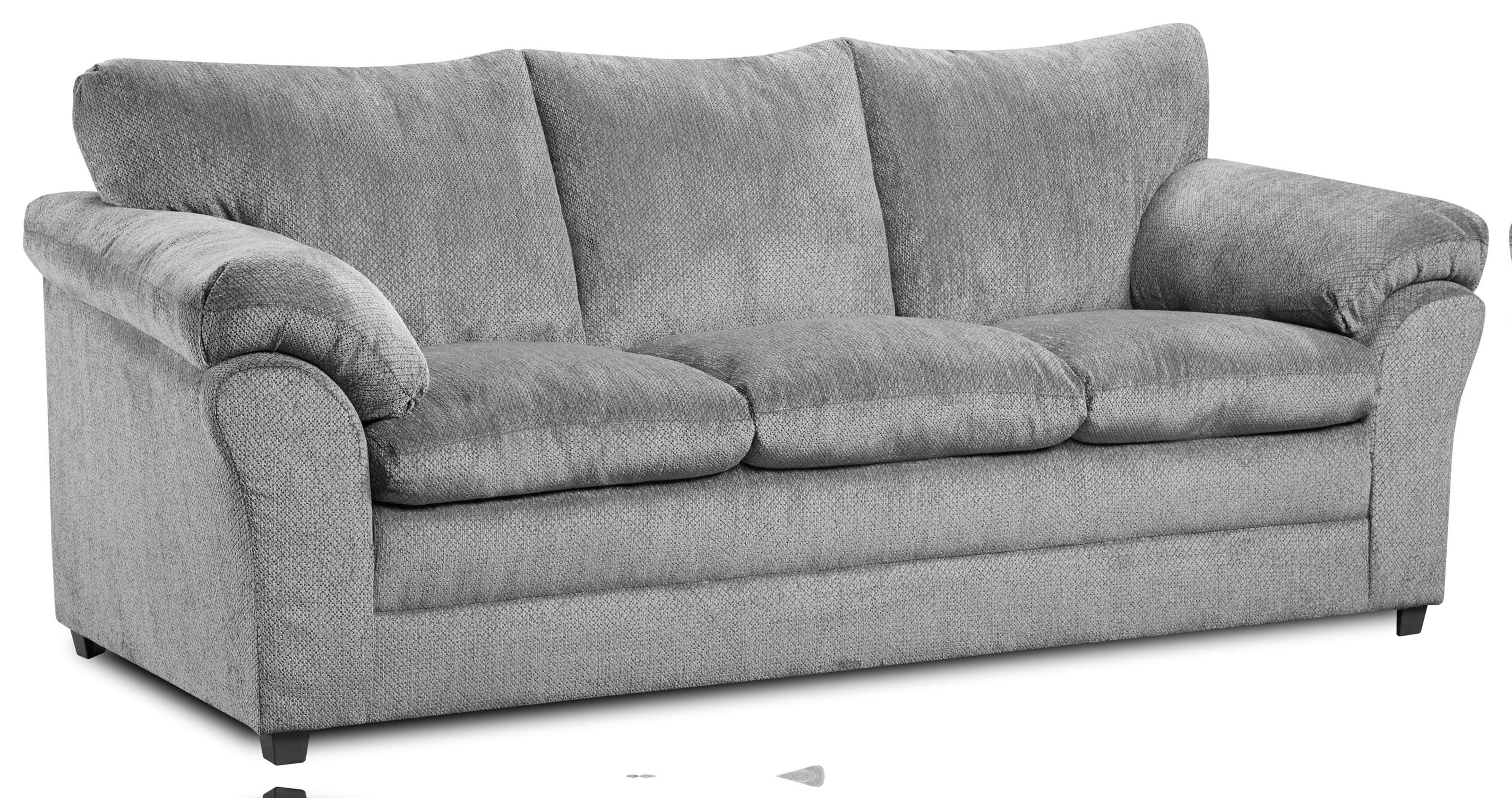 2153 Kennedy Grey Three Cushion Sofa by Washington Brothers Furniture at Furniture Fair - North Carolina