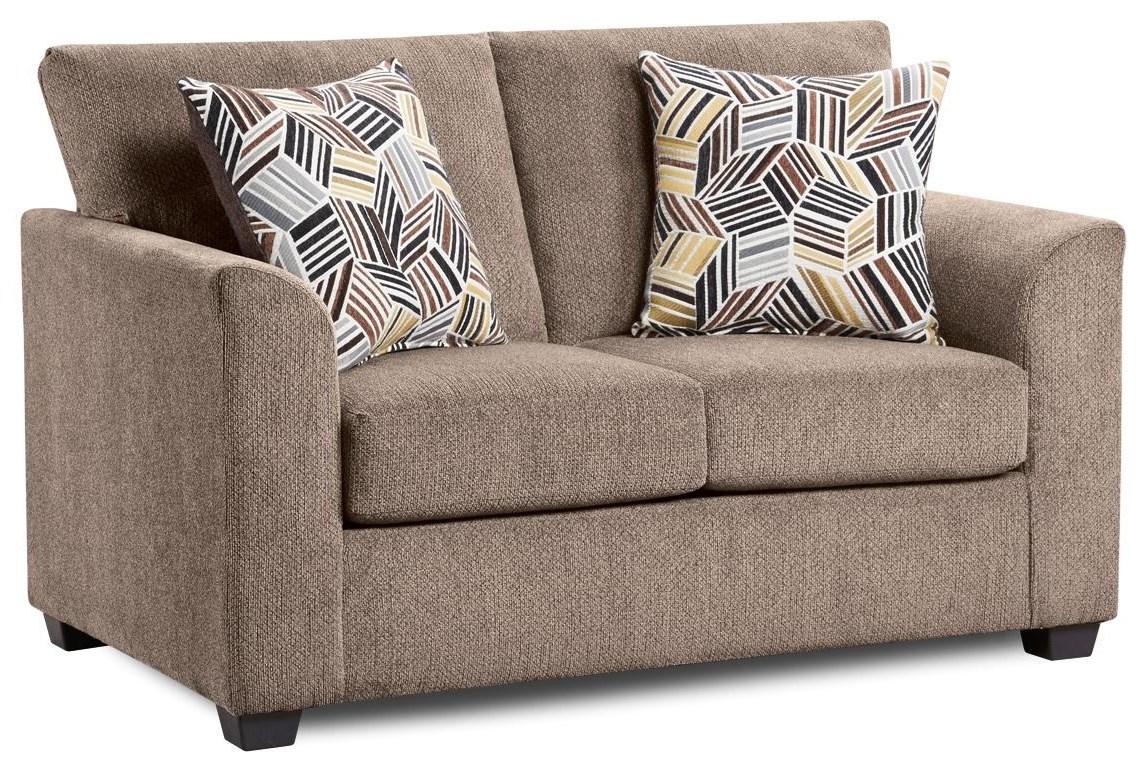 3003 KENNEDY Cocoa Loveseat by Washington Brothers Furniture at Furniture Fair - North Carolina