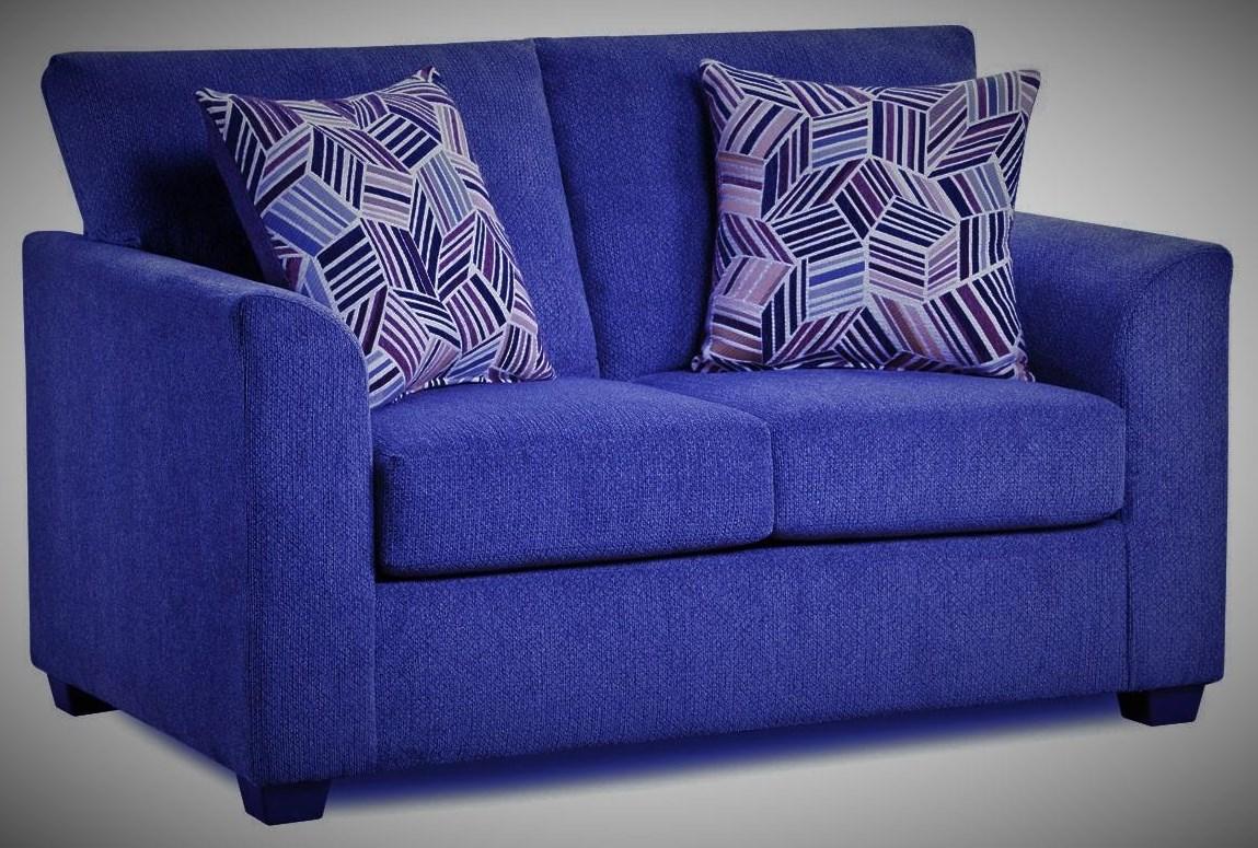 3003 KENNEDY Navy Loveseat by Washington Brothers Furniture at Furniture Fair - North Carolina