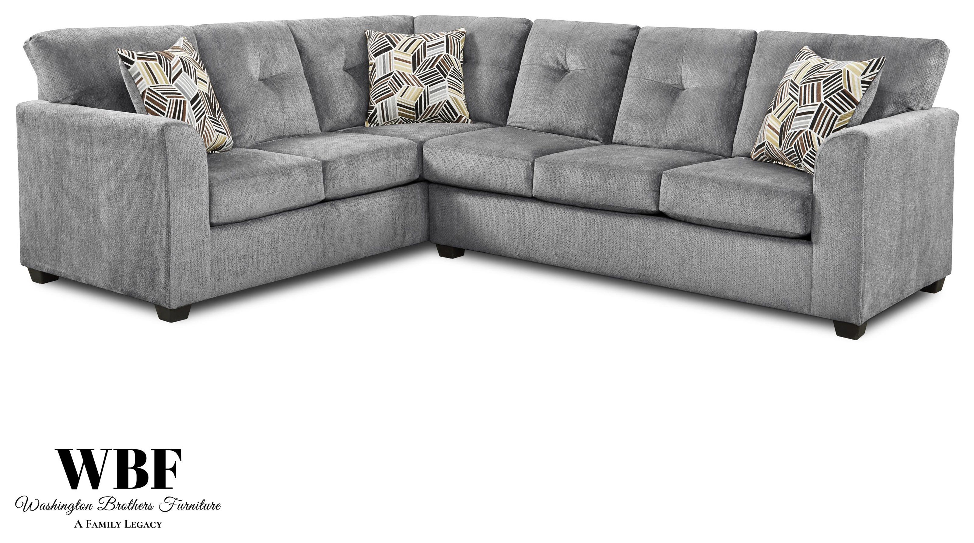 3007-3008 Two Piece Sectional by Washington Brothers Furniture at Furniture Fair - North Carolina