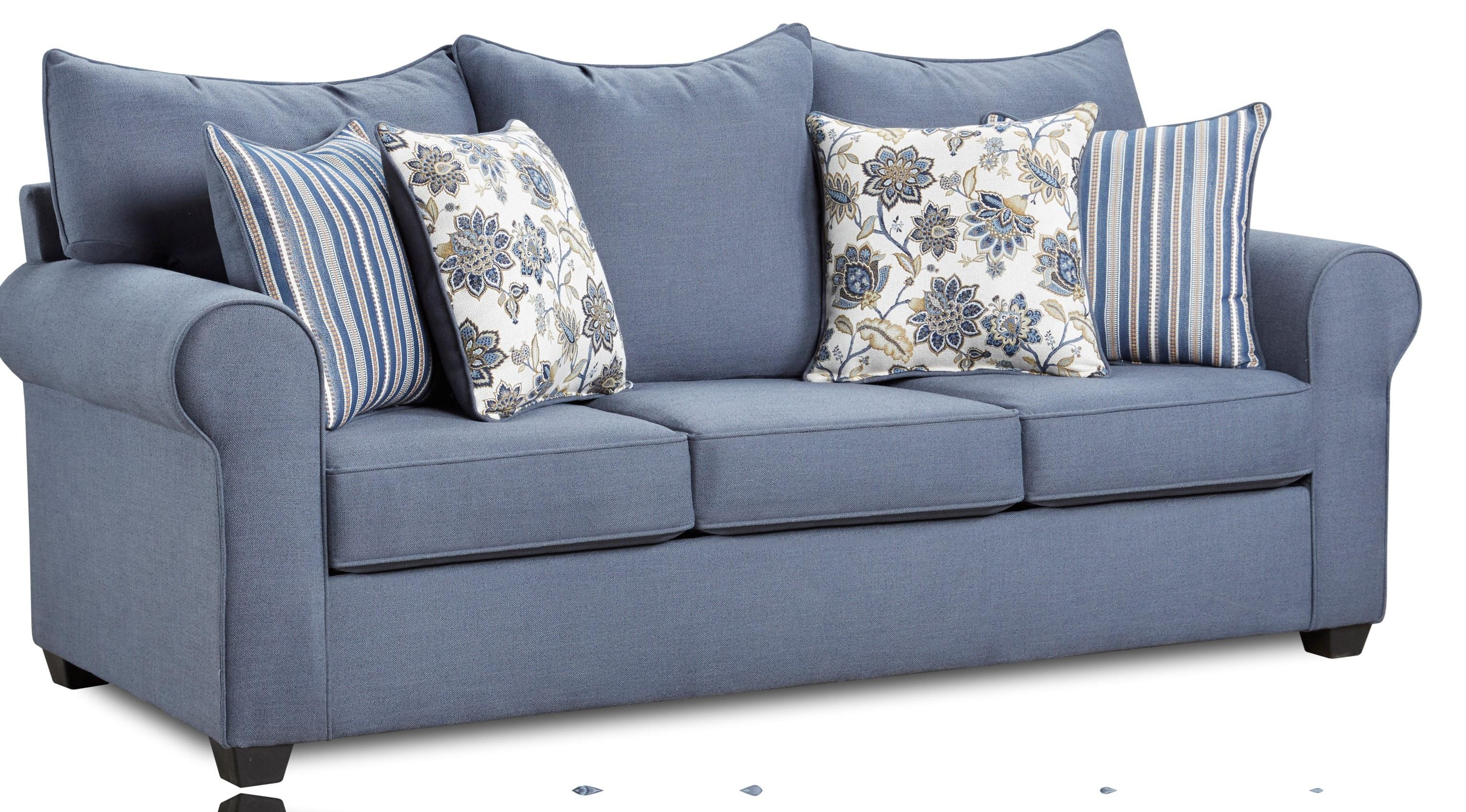 4000 Collection Indigo Blue Sofa by Washington Brothers Furniture at Furniture Fair - North Carolina