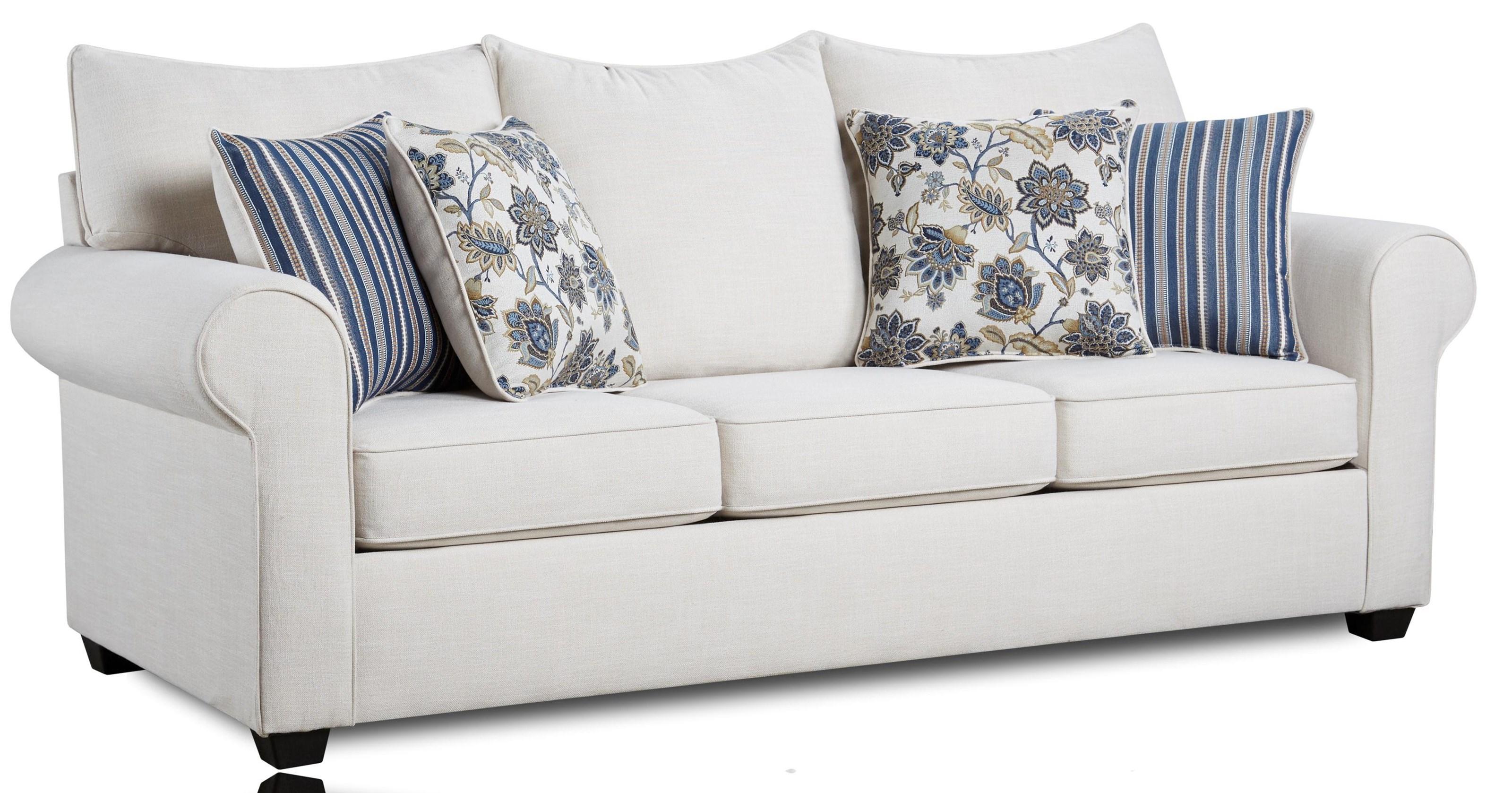 4000 Collection Cream Sofa by Washington Brothers Furniture at Furniture Fair - North Carolina