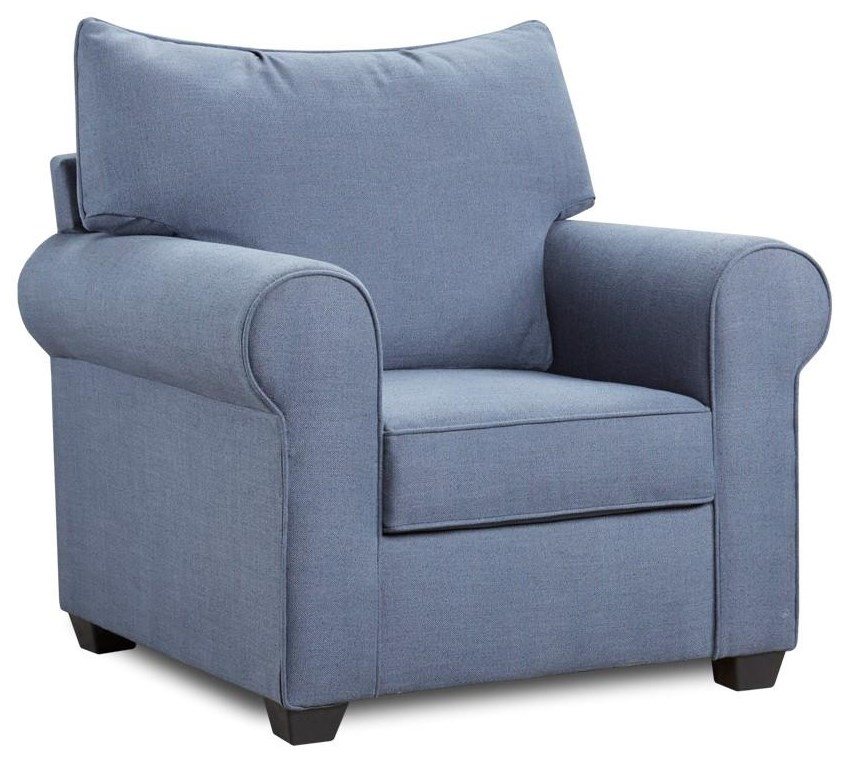 4000 Collection Indigo Blue Chair by Washington Brothers Furniture at Furniture Fair - North Carolina