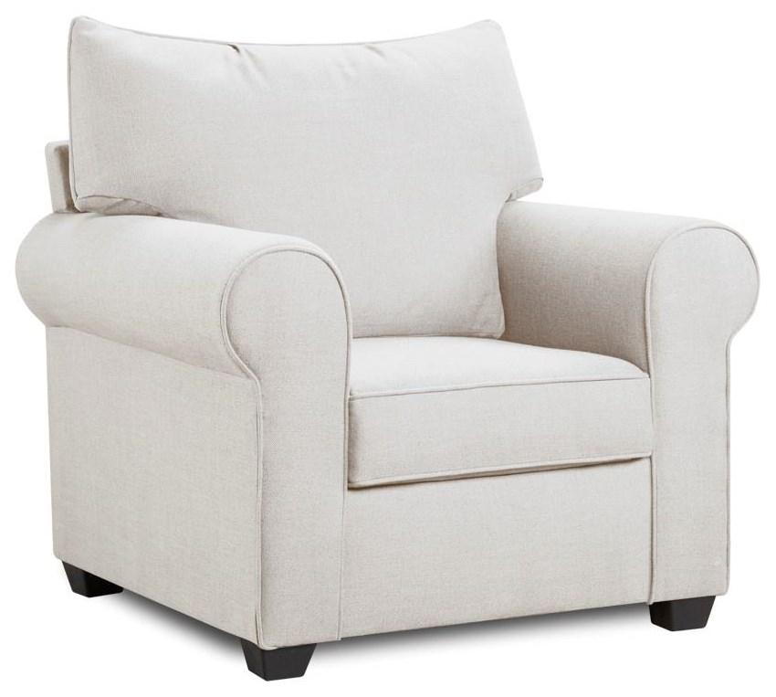 4000 Collection Cream Chair by Washington Brothers Furniture at Furniture Fair - North Carolina