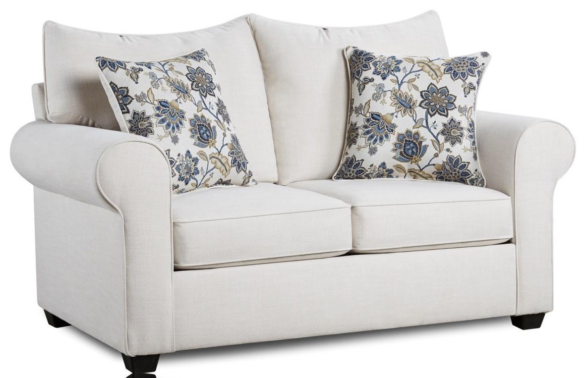 4000 Collection Cream Loveseat by Washington Brothers Furniture at Furniture Fair - North Carolina
