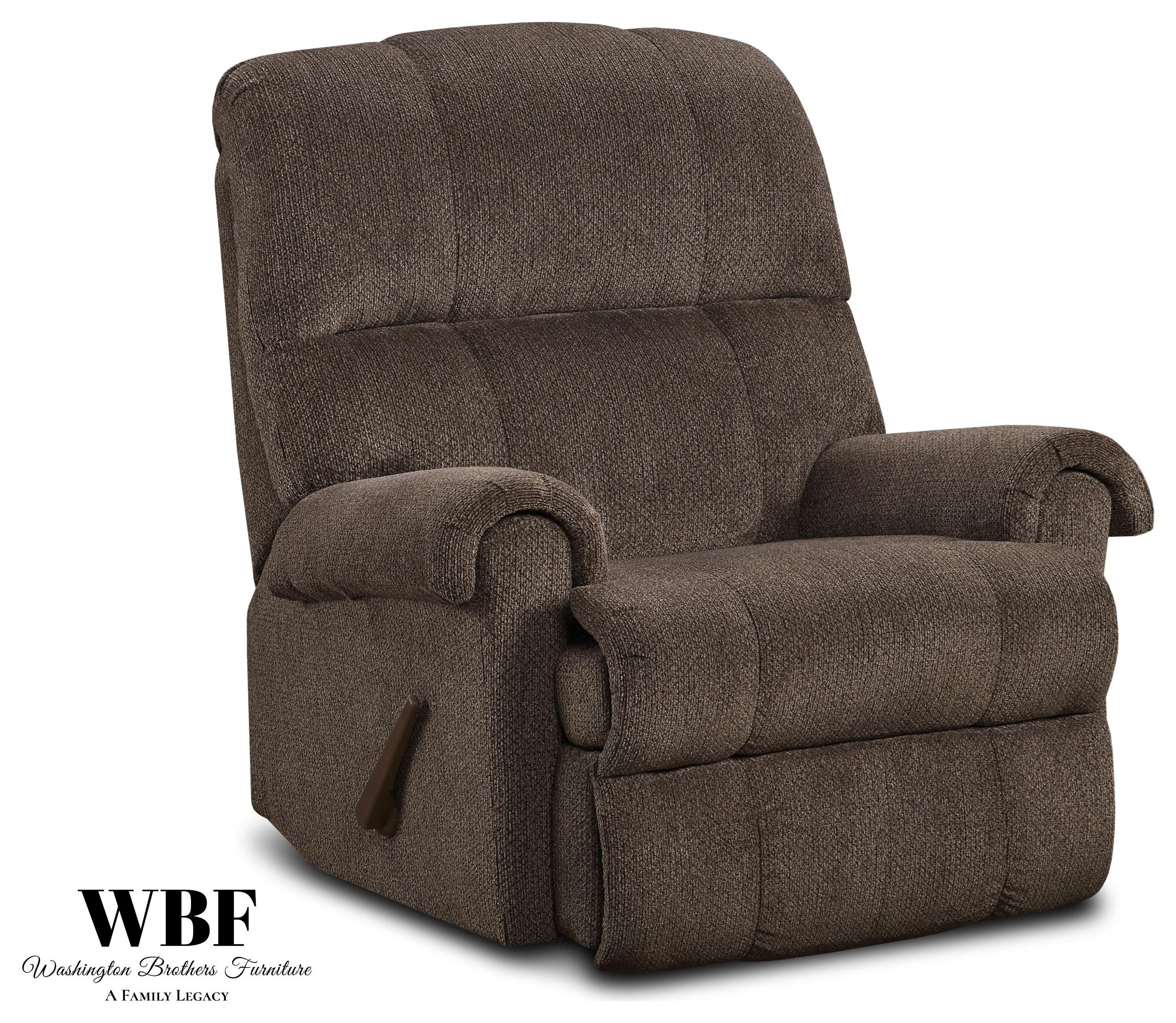 9010 Recliners Recliner- Chocolate by Washington Brothers Furniture at Furniture Fair - North Carolina
