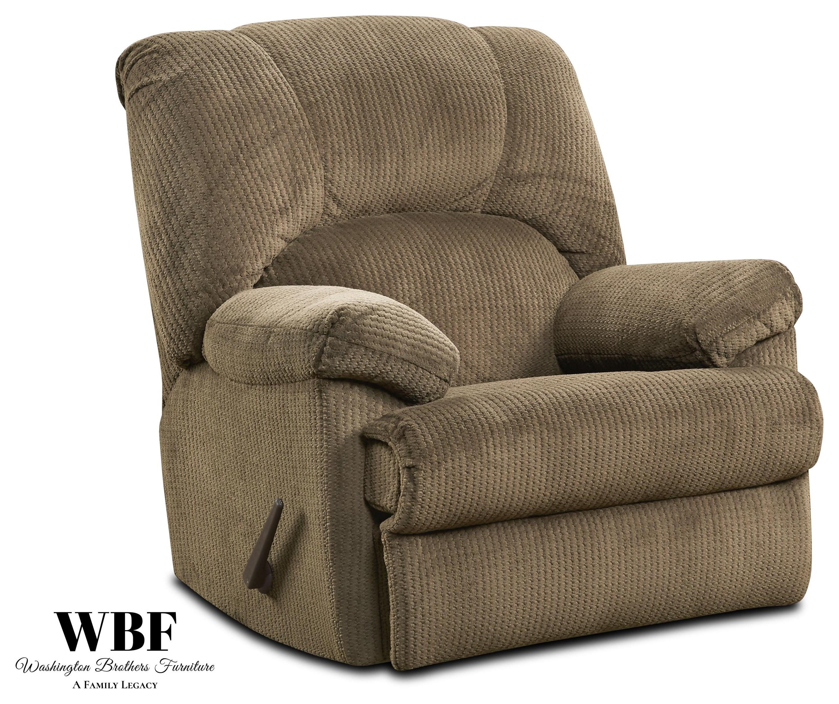9015 Rocker Recliner - Camel by Washington Brothers Furniture at Furniture Fair - North Carolina