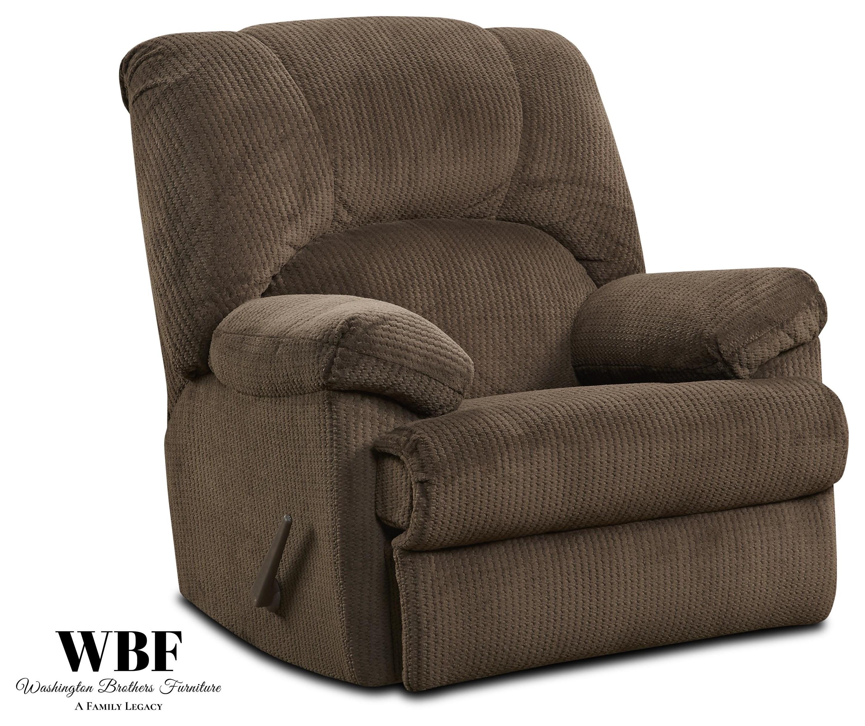 9015 Rocker Recliner - Chocolate by Washington Brothers Furniture at Furniture Fair - North Carolina