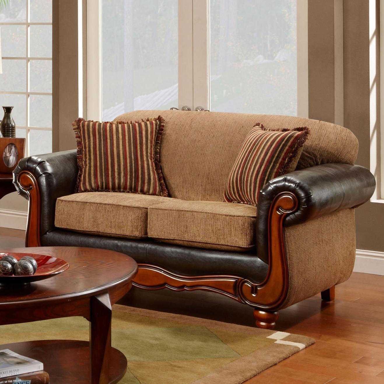1030 Radar Mocha Loveseat by Washington Furniture at Lynn's Furniture & Mattress