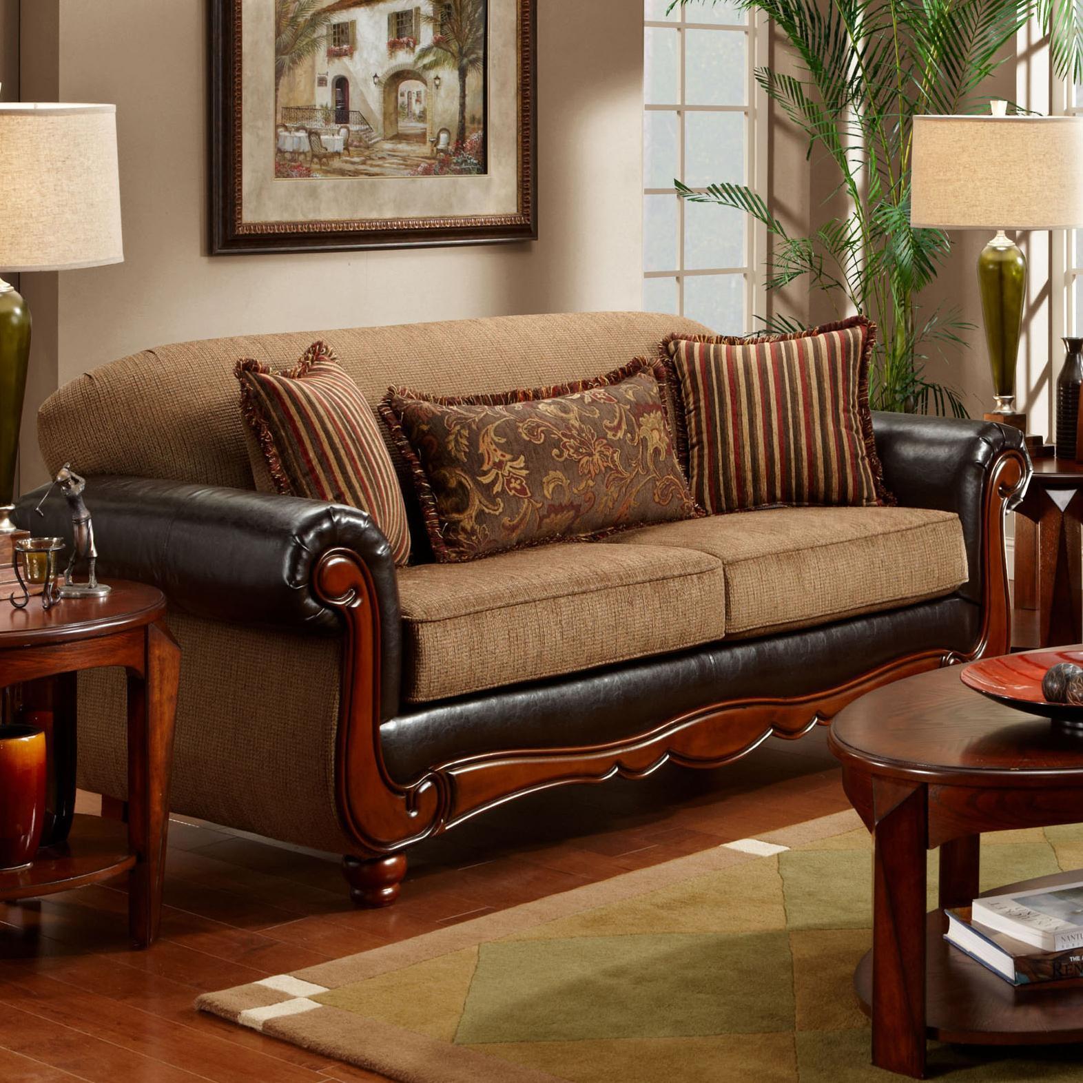 1030 Radar Mocha Sofa by Washington Furniture at Lynn's Furniture & Mattress