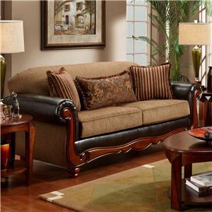 Washington Furniture 1030 Radar Mocha Sofa