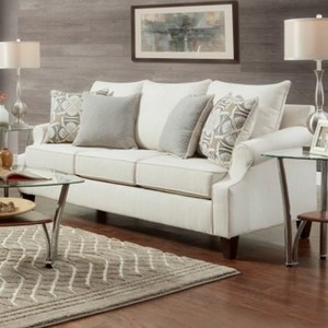 Transitional Sofa with Tapered Legs