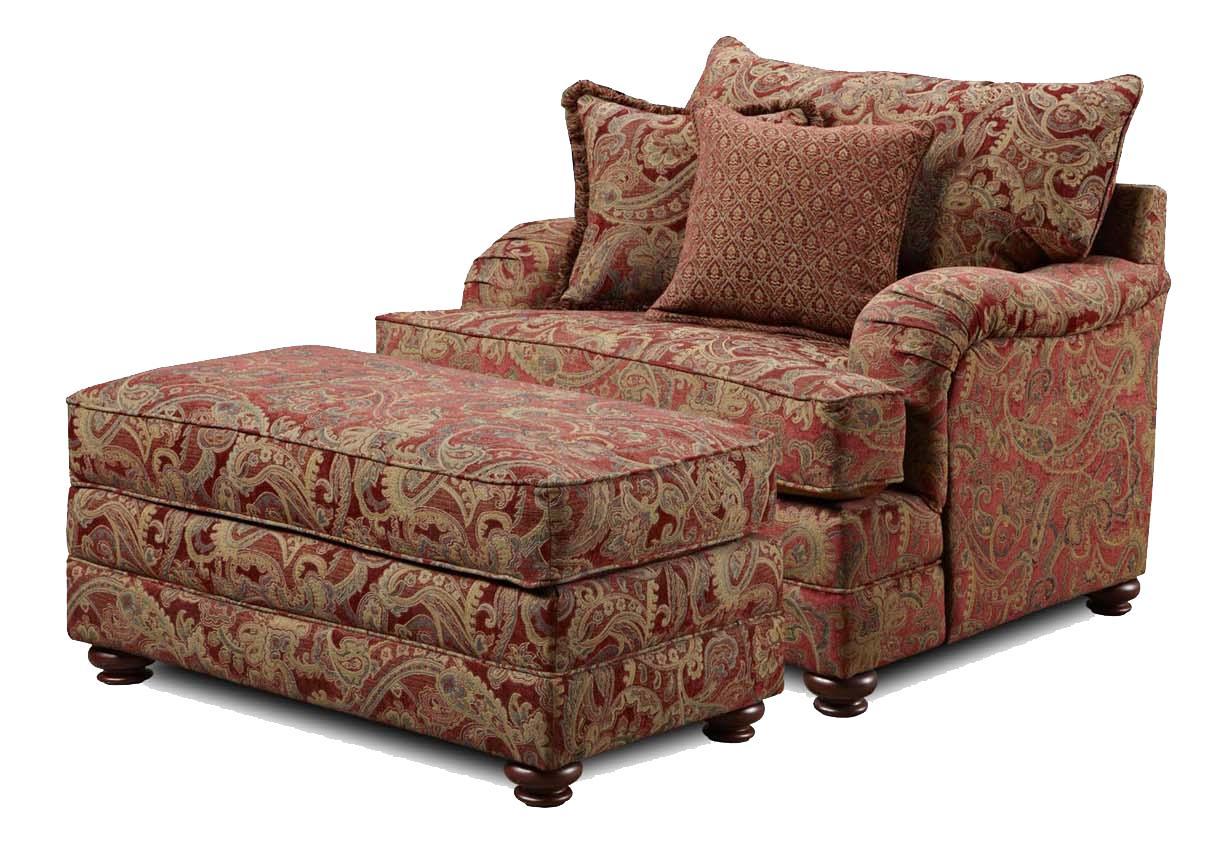 1130 Chair and Ottoman by Washington Furniture at Lynn's Furniture & Mattress