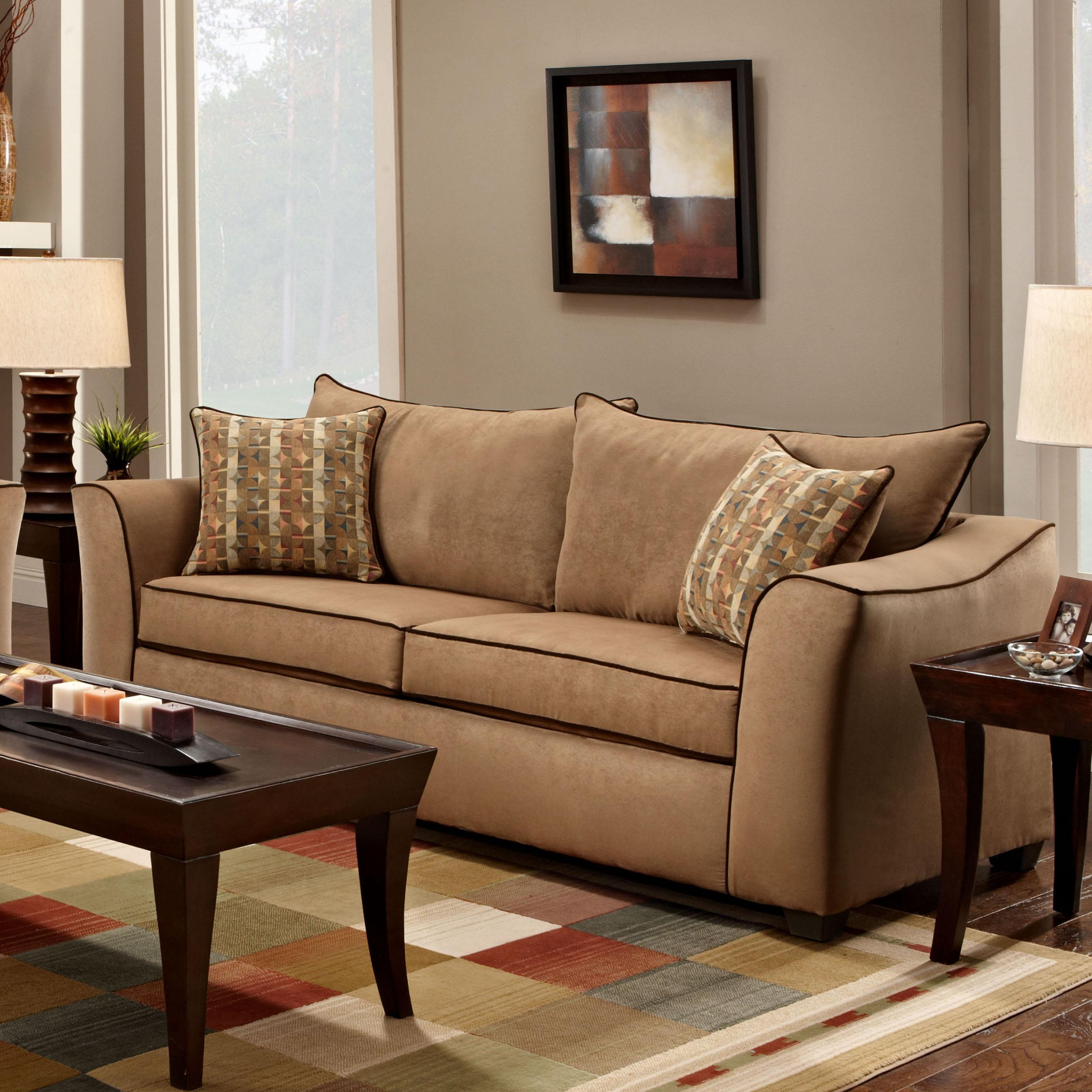 1160 Stationary Sofa by Washington Furniture at Lynn's Furniture & Mattress