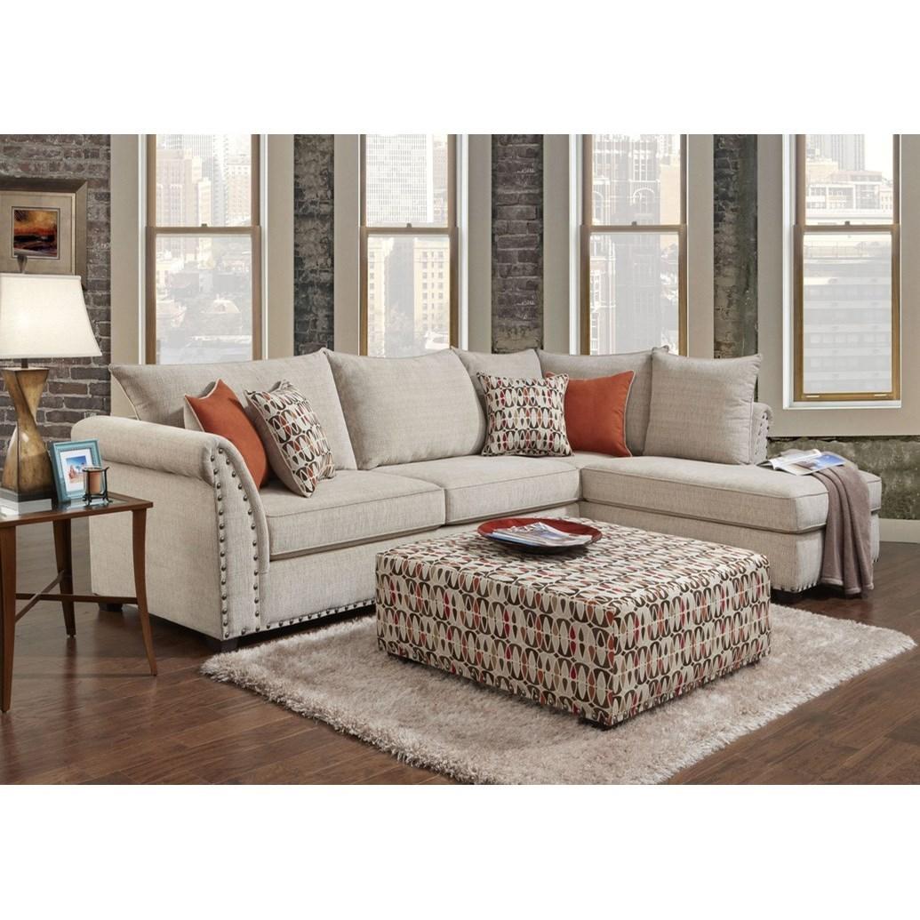 1850 2 Piece Sectional Sofa by Washington Furniture at Lynn's Furniture & Mattress