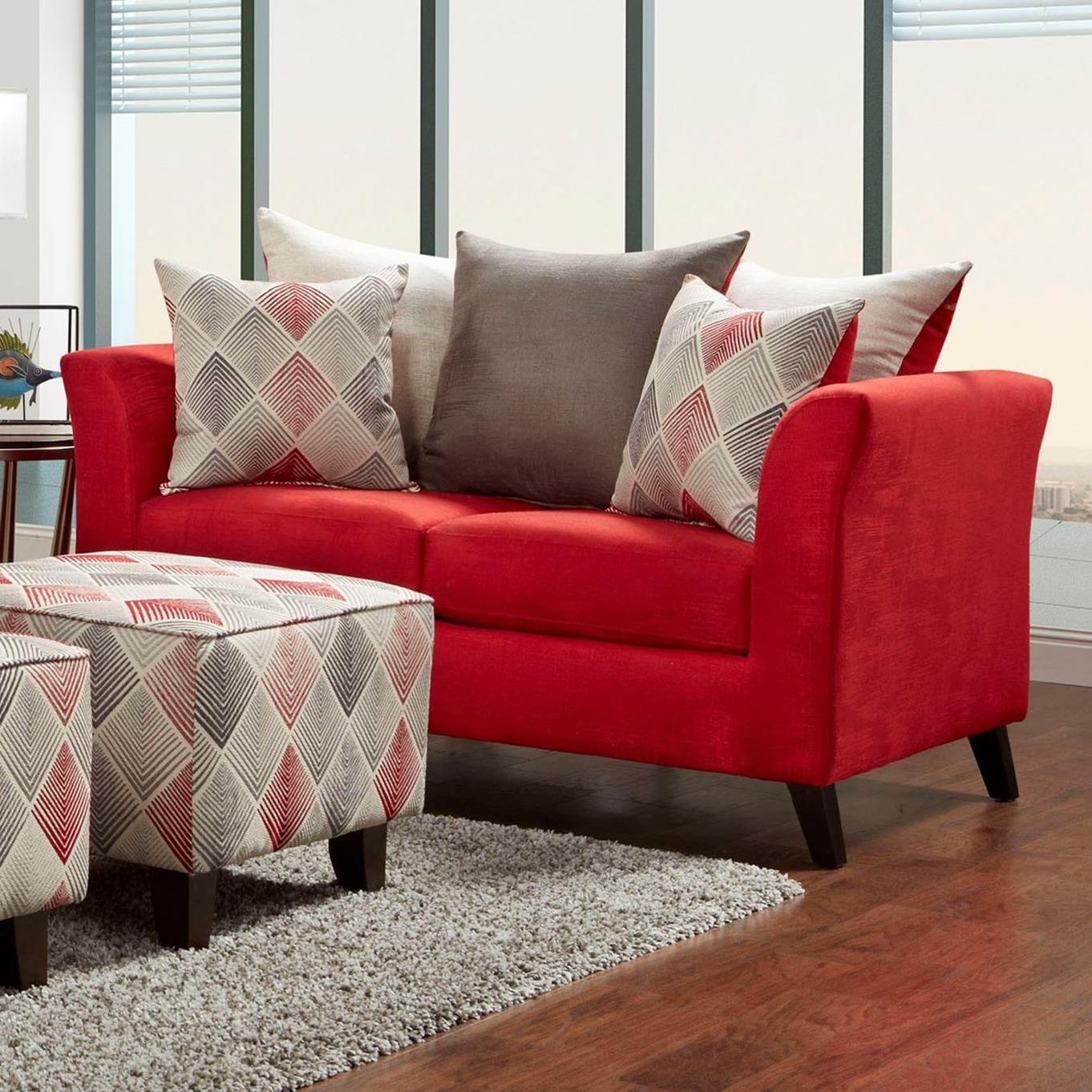 1960 Love Seat by Washington Furniture at Lynn's Furniture & Mattress