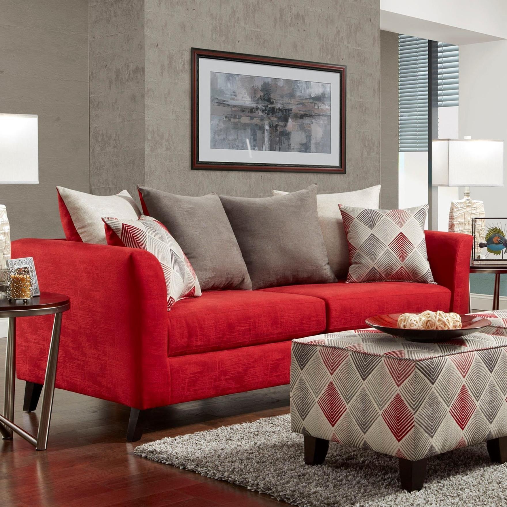 1960 Stationary Sofa by Washington Furniture at Lynn's Furniture & Mattress