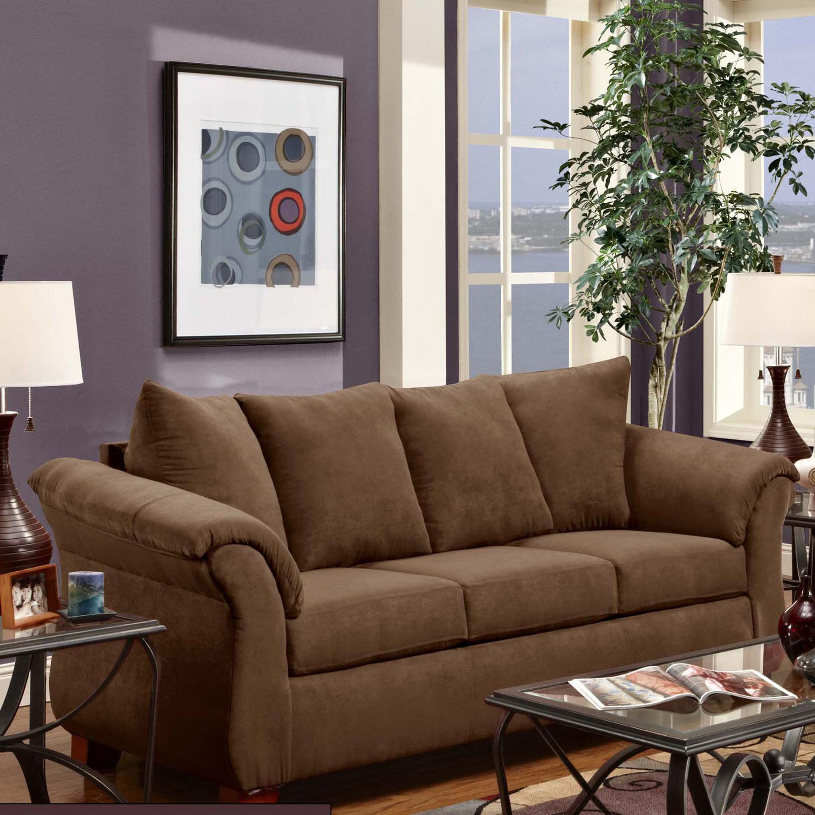 2000 Stationary Sofa by Washington Furniture at Lynn's Furniture & Mattress