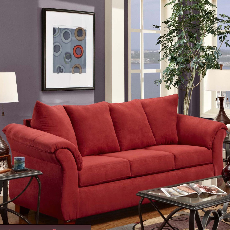 2000 Stationary Sofa by Washington Furniture at Lynn's Furniture & Mattress