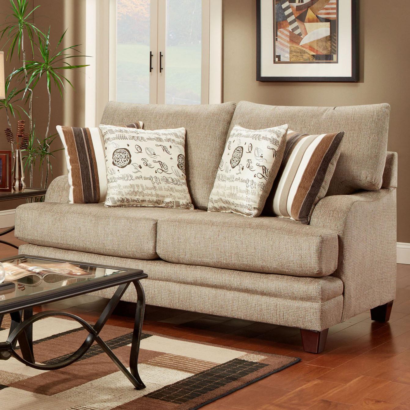 2230 Transitional Loveseat by Washington Furniture at Lynn's Furniture & Mattress