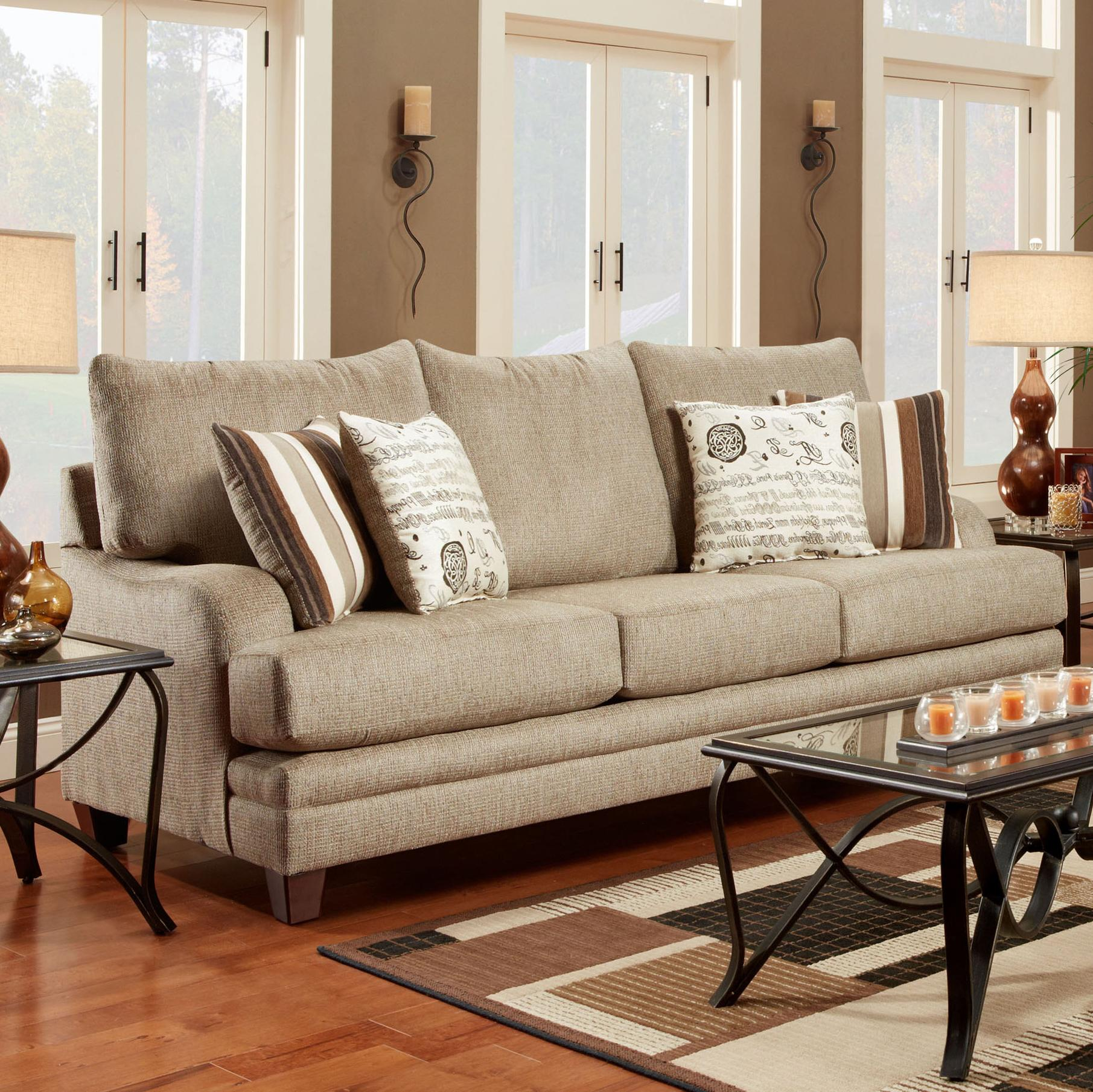 2230 Transitional Sofa by Washington Furniture at Lynn's Furniture & Mattress