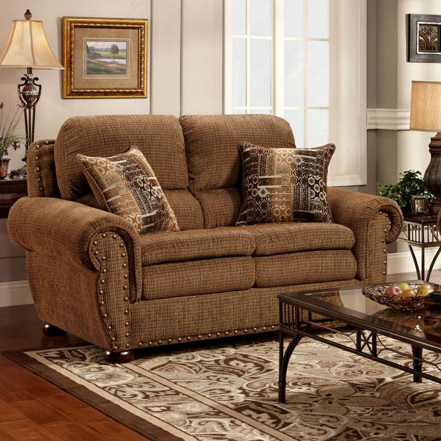 3400  Upholstered Loveseat by Washington Furniture at Lynn's Furniture & Mattress