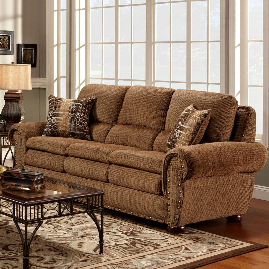 3400  Stationary Sofa by Washington Furniture at Lynn's Furniture & Mattress