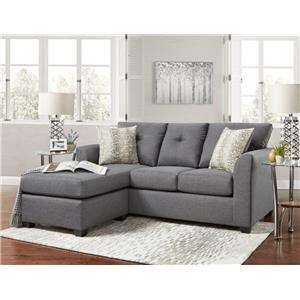 Stonewall Grey Sofa with Chaise