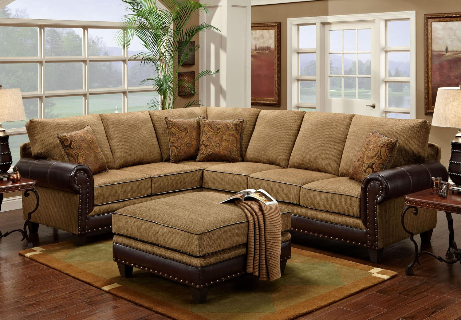 4030 Sectional by Washington Furniture at Lynn's Furniture & Mattress