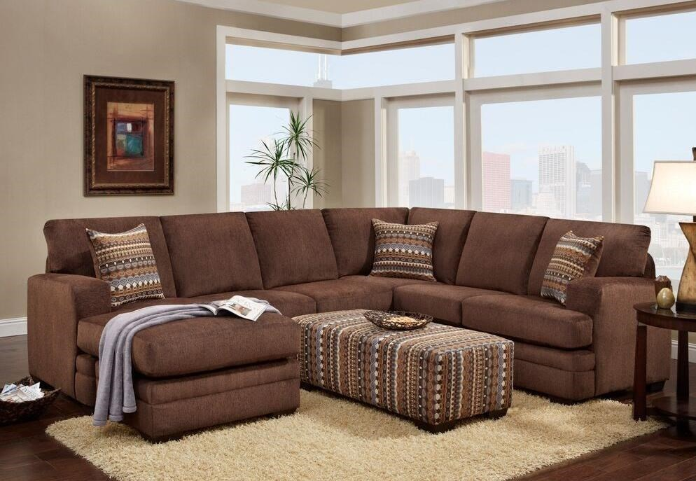 4160 Sectional with Chaise by Washington Furniture at Lynn's Furniture & Mattress