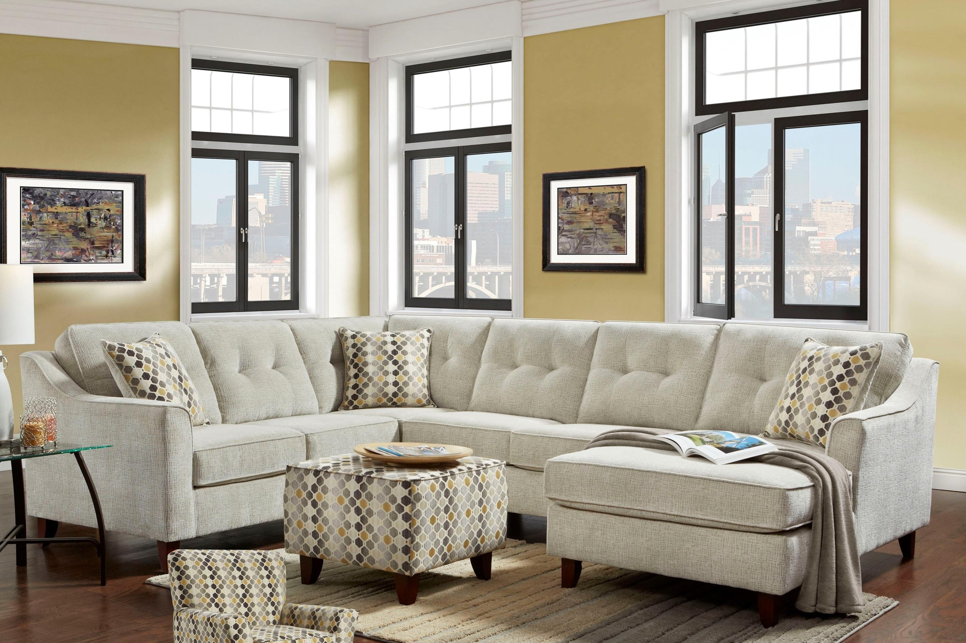 4740 5 Seat Sectional by Washington Furniture at Lynn's Furniture & Mattress